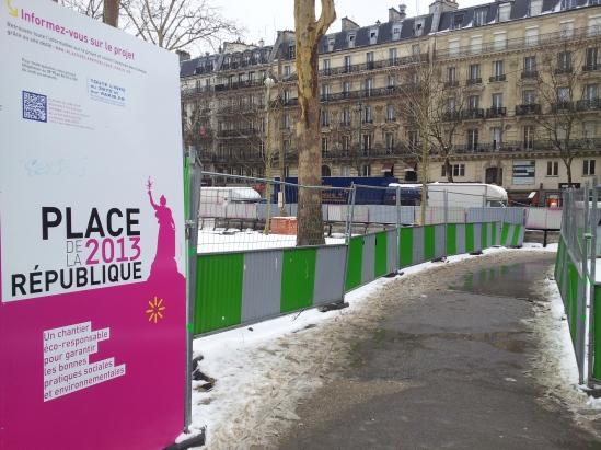 Aménagement de la place de la République (Crédits : Séga Kanouté)