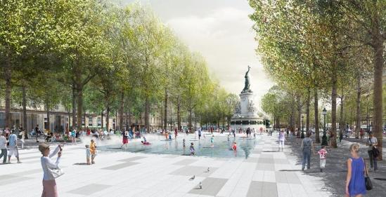 La future place de la République (Crédits : Trévelo & Viger-Kohler architectes / my lucky pixel)