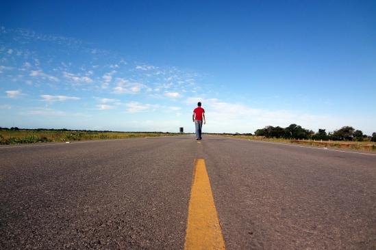 Marcher sur un périphérique sans voiture? (Crédit : msadriano)